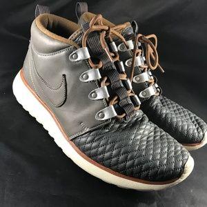 Rare NIKE Leather Roshe Sneakerboot Grey Black Tan